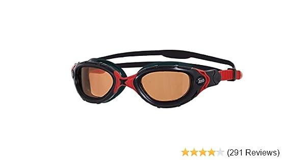 Zoggs Adult Predator Flex Polarized Ultra 2.0 Goggles in Black//Red