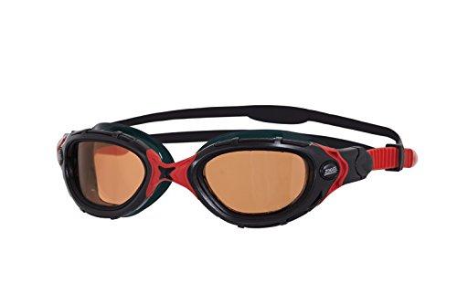 Zoggs Predator Flex Polarized Ultra - Gafas de natación, Negro-Rojo, Talla única, 1 unidad