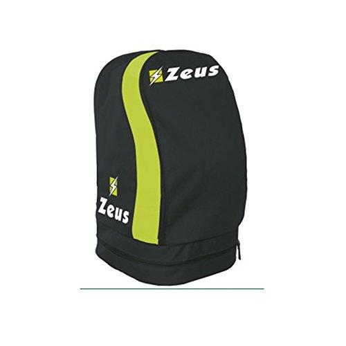 Zeus ZAINO ULYSSE BORSA CALCIO CALCETTO PISCINA SPORT 33 X 30 X 52 cm (33 X 30 X 52 cm, GRIGIO SCURO-GIALLO FLUO)