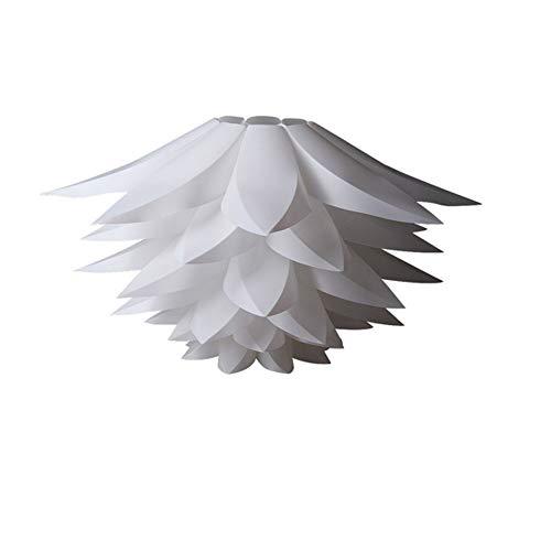 Lámpara de puzzle colgante DIY - Pantalla para lámpara de techo con diseño de flor de loto - 50CM en color blanco
