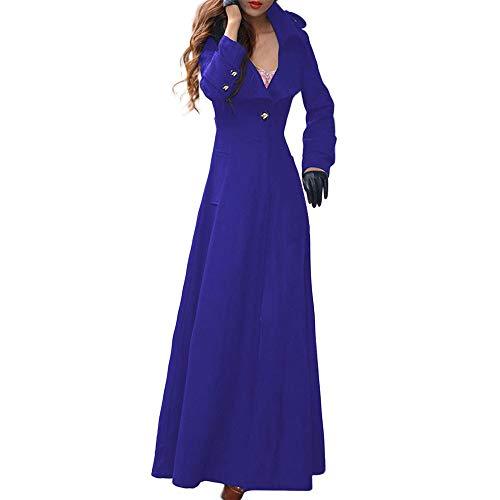 Covermason Mode Nouveau Femme Manteau Laine Longue Coat Trench Jacket Costume Slim Fit Casual Business Soirée Revers Long Manches Manteaux Blouson Cardigan Coat Parka Outwear Hoody Tops Longue Robe