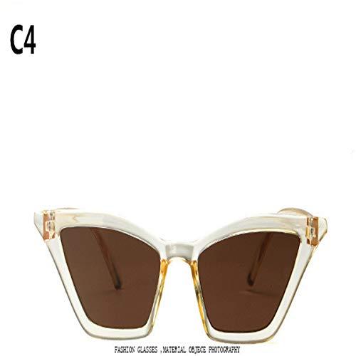 Sport-Sonnenbrillen, Vintage Sonnenbrillen, NEW Sunglasses Women Retro Colorful Transparent Colorful Fashion Cateye Sun Glasses Men UV400 C4
