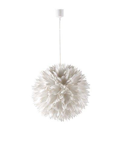 Els Banys Iris - Colgante de techo PVC  blanco, diseño flores, color blanco