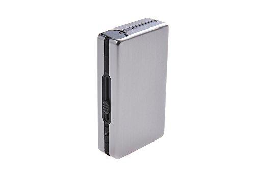 Quantum Abacus automatisches Zigarettenetui aus Aluminium, modern elegant, für 10 Zigaretten, Mod. 490-03 (DE)