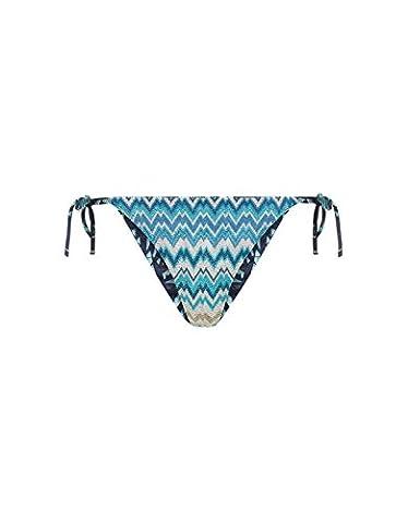 Accessorize Culotte de bikini en zig-zag réversible avec liens sur les côtés - Femme - 42