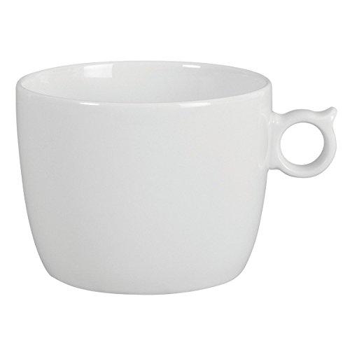DEGRENNE - Smoos 2.0 lot de 6 tasses déjeuner, porcelaine - Blanc