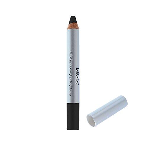 Impala Crayon Exclusif Jumbo 3 en 1 N20 Noir Yeux Lèvres Fard Tenue Longue