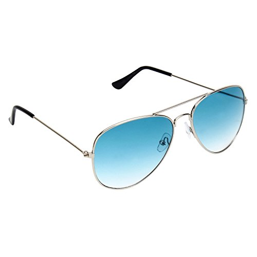 UV Protected Stylish Aviator Sunglasses for Girls and Boys ( Silver-Blue ) ( YS-AVSG-01 )  available at amazon for Rs.199