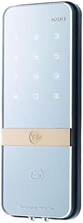 Yale YDG313 Shine Glass Door Digital Lock, Silver, W 28.2 x H 23.6 x D 9.8 cm