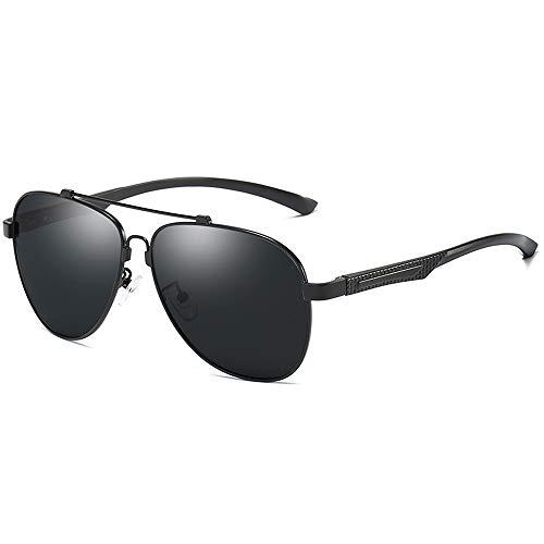 Sunglasses LWS L.W.SURL Al-Mg-Legierungsrahmen polarisierte Sonnenbrille für Männer-Frauen-Art- und Weisefahrens-Sonnenbrille (Color : Schwarz, Size : Kostenlos)