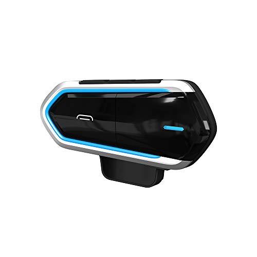 Cuffie wireless Bluetooth per casco da moto Inter comunicador, impermeabili, controllo vocale, con microfono