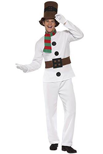 Smiffys Mr Snowman Costume for Men. M, L, XL