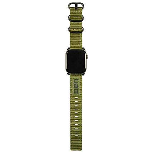 Urban Armor Gear NATO Correa para Apple Watch (42mm) y Apple Watch (44mm) [Series 4 / Series 3 / Series 2 / Series 1, Correa reemplazable] - Verde Oliva