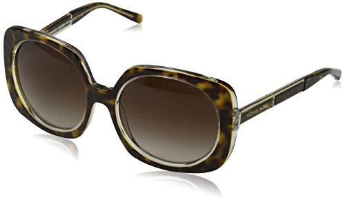 Michael Kors Damen ULA 303413 55 Sonnenbrille, Tortoise/Crystal/Browngradient
