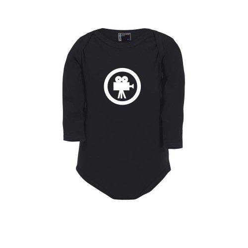 Kameramann Kostüm - Cre9tive Shirts Film - Movie - Kinokamera, Baby Body, Größe 80, schwarz
