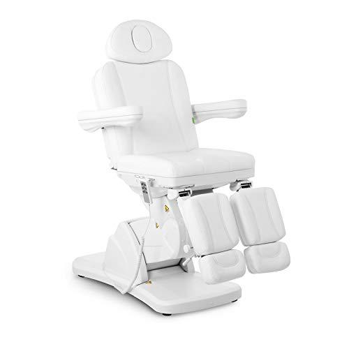 Physa LA PAZ WHITE Fußpflegestuhl elektrisch Kosmetikstuhl weiß Kosmetikliege höhenverstellbar Fußpflegeliege mit Fernbedienung und Fußschalter
