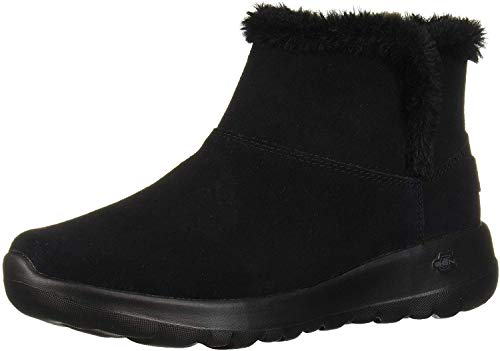 Skechers Women's ON-The-GO Joy-Bundle UP Ankle Boots, Black Black Suede BBK, 6 UK 39 EU