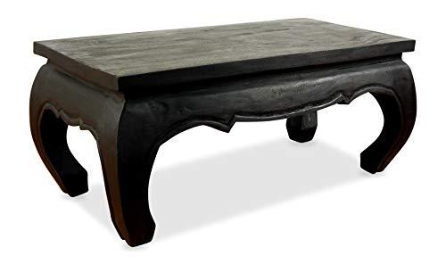 livasia Opiumtisch, Couchtisch aus Massivholz, Sofatisch der Marke Asia Wohnstudio, Massivholztisch aus Thailand (schwarz)