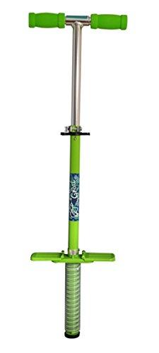 Axer Sport, Pogo Stick Hüpfstab Springstock Hüpfstange bis 60 kg (Pogo Stick Grün)