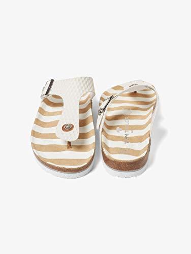 en Schuhe Gemusterte Zehentrenner White, 40 ()