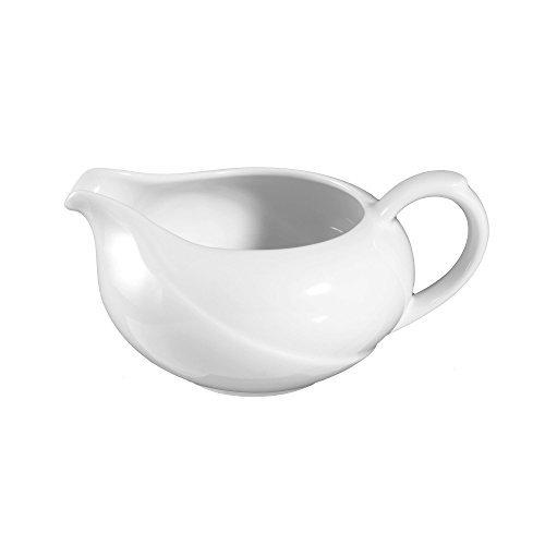 Saucière 11,2 cm Laguna White Uni 00006 de Seltmann Weiden, Porcelaine, weiß, 1