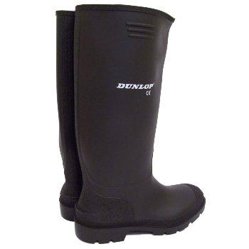 Mens Dunlop Black Wellies Wellington Welly Rain Boots Size 6