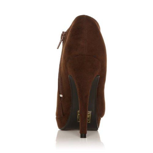 H20 Stilettos mit sehr hohem Absatz aus braunem Kunst Wildleder Braunes Kunst-Wildleder