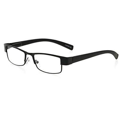 VEVESMUNDO Lesebrillen Federscharnier Lesehilfe Herren Damen Klassische Metall Vollrand Lesebrille Augenoptik Klar Sehhilfe Arbeitsplatzbrille Sehstärke
