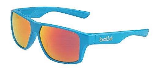 bollé Erwachsene Brecken Sonnenbrille, Shiny Cyan, Medium