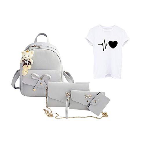iHENGH Zaino Stampa Semplice Pelle Pu Per Donna Borsa A Mano 2019 Nuovo Studente Moda Casual Vintage Borstta Fashion Work Elegante Ragazza Viaggio