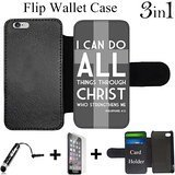 Bibel Philipper Christliche Kreuz, Custom iPhone 6 Plus Fällen/6S Plus Cases-Bundle 3 in1 Enthalten: Mini Stylus Pen + gehärtetem Glas Displayschutzfolie + Design-Schutzhülle, Flip Wallet - Sprint Phones Cell Plus 6 Iphone