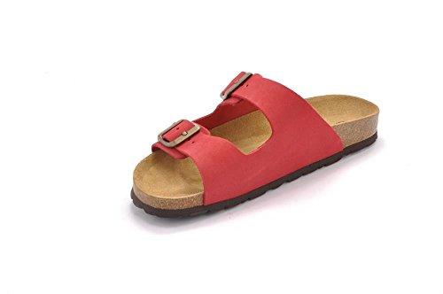 Grunland Sara donna, pelle liscia, sandali Rosso
