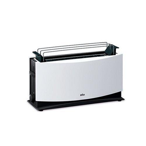 Carico stimato:1000 W, Tipo prodotto:Tostapane - elettrico, Caratteristiche toaster e grill:Cassetto briciole, sbrinamento, auto spegnimento, Colore:Bianco