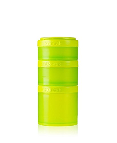 3 Cup Container (BlenderBottle ProStak Expansion Pak - grün 3 Pak Container (250ml, 150ml und 100ml) inklusive 1. Pillenfach)
