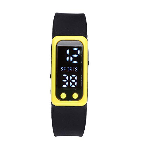 Fymia★★✿✿Run Step Watch Armband Schrittzähler Kalorienzähler Digital LCD Walking Distance