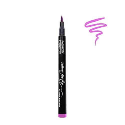 Feutre Semi Permanent Lip Liner - Couleur Rose Peggy - Effet Tatouage Contour des Levres Maquillage