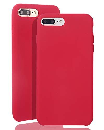 JMi [ Kompatibel mit Apple iPhone 7 Plus / 8 Plus, in Weinrot Originale Silikonhülle - Hochwertig, perfekte Verarbeitung - Schlichtes Silicone Case Iphone Silicon Case