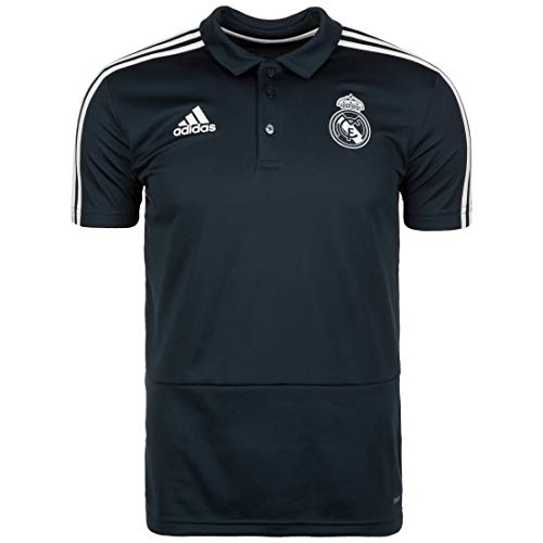 adidas Herren Real Kurzarm Polo-Shirt, Tech Onix/Black/Core White, L -