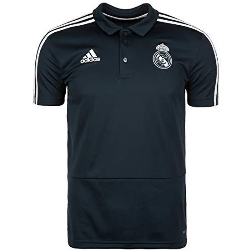 adidas Herren Real Kurzarm Polo-Shirt, Tech Onix/Black/Core White, L