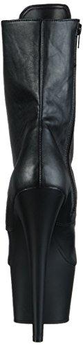 Pleaser  ADORE-1020, Bottines sans doublure intérieure femme Noir (Blk Faux Leather/Blk Matte)