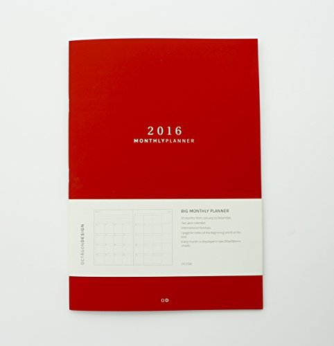 Monthly Planner 2016 (BIG). ENE16 a DIC16. 210x297mm (A4)