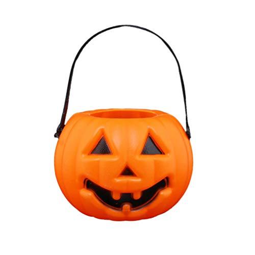 (BESTOYARD Halloween-Kürbis-Ausdruck-Laternen tragbares batteriebetriebenes LED-Laternen-Licht)