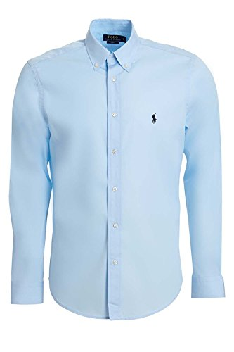 Ralph lauren camicia da uomo, taglio attillato hellblau xxl