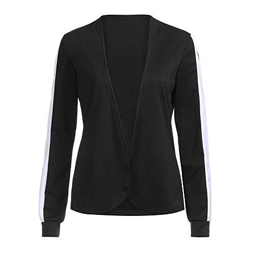 Femmes Manteau, Toamen Cardigan à manches longues Veste Décontracté Taille S ~XL (S, Noir)
