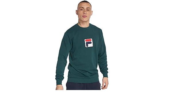 Fila Herren Sweatshirt Grün Junikäfer: : Bekleidung