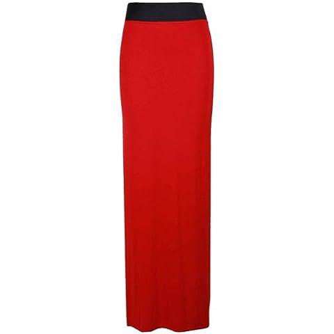 Vestido de falda larga para mujer, diseño liso