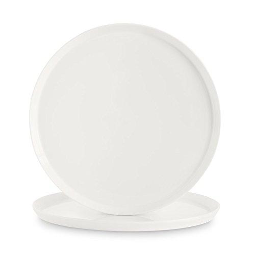 Set di 2 piatti da portata in porcellana svea 2 pregiati vassoi bianchi e rotondi (33 cm Ø) realizzati in finissima porcellana bone china, con design moderno in stile scandinavo