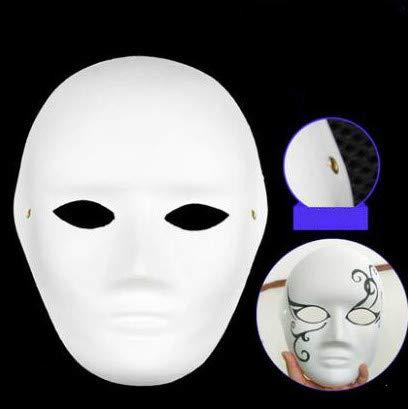RENS 10 Stücke DIY Maske Malerei Pulp Blank White Masken Vollgesichts Halbes Gesicht Maskerade Partei Masken Kostüm Requisiten Für Männer Frauen Kinder