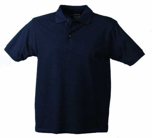 James & Nicholson Herren Classic Polo Poloshirt, Blau (Navy), X-Large (Shirt Blau Navy Herren)