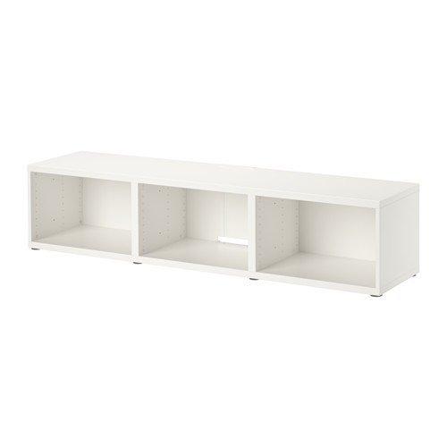 IKEA BESTA TV-Bank in weiß; (180x40x38cm)